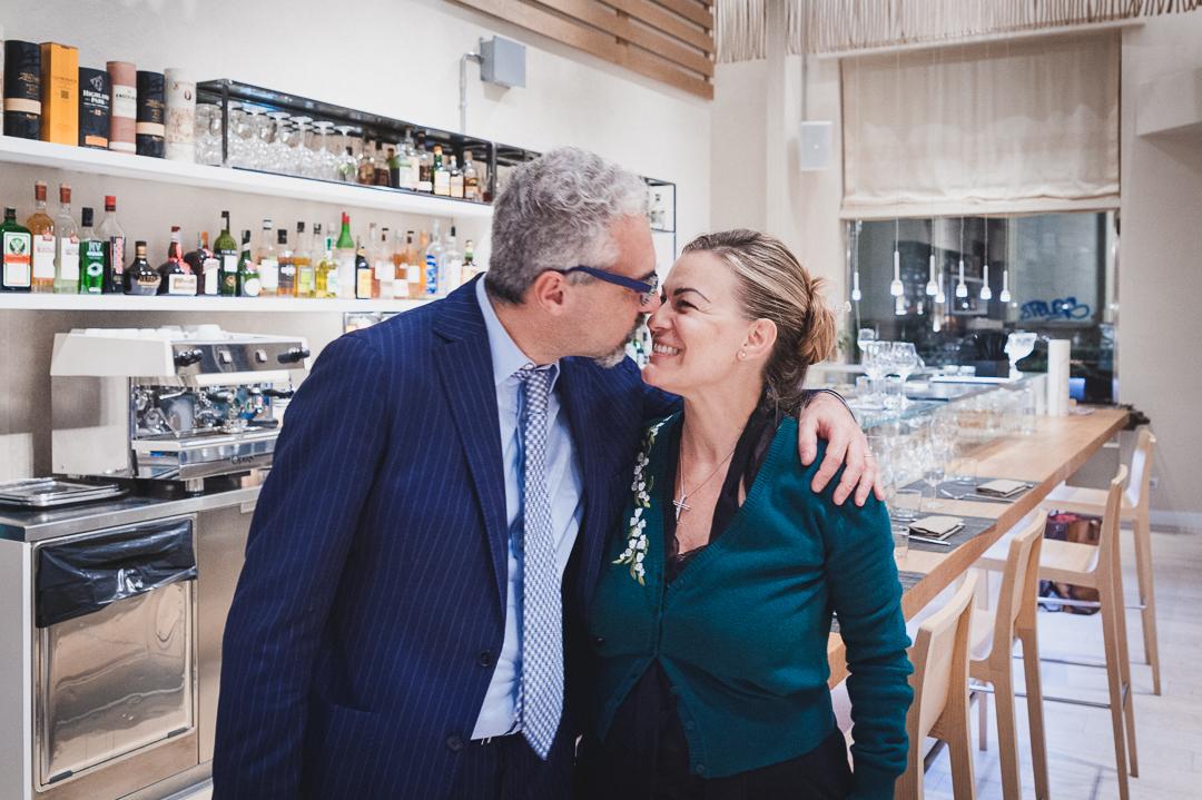 Foto di Cristina Sartori e Antonio Colucci titolari del ristorante Angolo 16